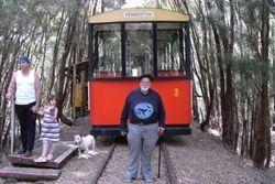 Tom & The Pemberton Tram at Warren River