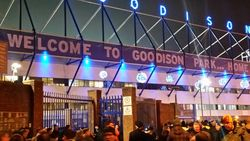 Walking up to Goodison Park