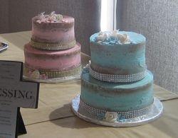 Baptism Naked Cakes