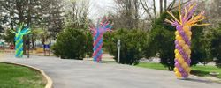 Spring Balloon Columns with Flares