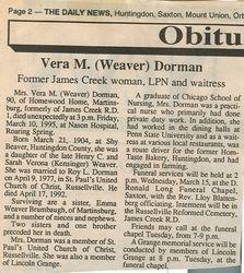 Dorman, Vera M. Weaver 1995