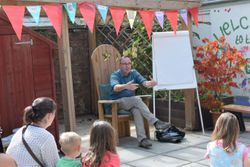 Shoo Rayner at Summer Reading Challenge Prize Giving