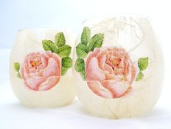Small Round Roses (small tealight holder only)