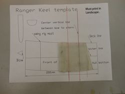 Ranger keel cut to template