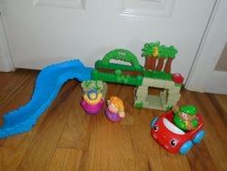Playskool Weebles Bridge & Slide with Weebles - $14