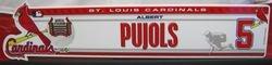 Albert Pujols 2008 Last Day Locker Plate