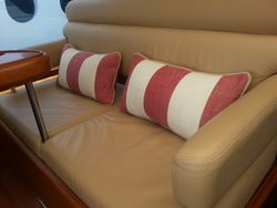 Salon pillows for the Helm bench