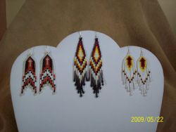 Beaded Arrows, Stacked Bugles with Red Bay Labrador Porkcupine Quills (center), Brickstitch Arrows v-shape