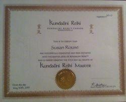 Kundalini Reiki Master Teacher Certificate