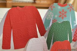 Sweater and Jumper Card Template