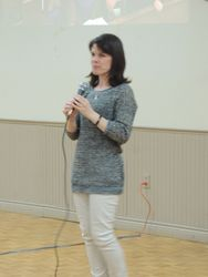 Guest speaker Tawnya Arsenault