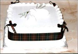 Scottish Theme Wedding Cake