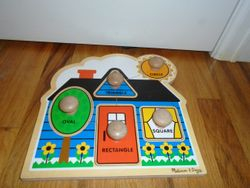 Melissa & Doug First Shapes Jumbo Knob Puzzle - $7