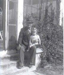 "Hugh Bonner ""Hughdy"" Dunn and granddaughter April Love Dunn"