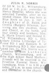 Norris, Julia Hileman 1969