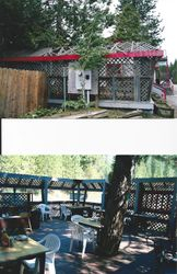 BEFORE & AFTER outside dining patio.