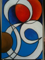 Spheres and line (SOLD)