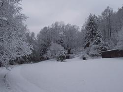 Brick in winter, landscape