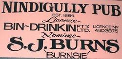 Licencee Notice at Nindigully Pub - Aug 2007