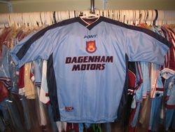 NEVER WORN 1997 made shirt with DAGENHAM MOTORS as sponsor,