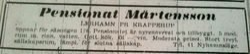 Pensionat Martensson 1948