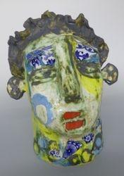 Mary Jones Ceramics.  Sitting in the sun.  SOLD
