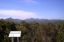 Overlooking Stirling Ranges from the Western Lookout