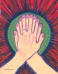 A Lot of Fingers Mandala, Oil Pastel, 11x14, Original Sold