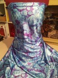Blue roses on purple 517#