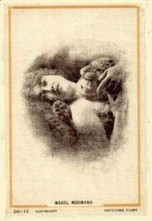 Mabel on silk postcard