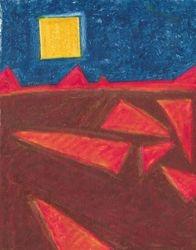 Angled Landscape, Oil Pastel, 11x14, Original Sold