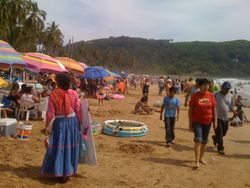 Chacala Beach in Semana Santa