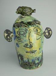 Mary Jones Ceramics.  Fishing