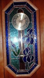Oak Framed Iris Clock