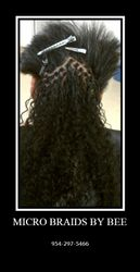 Micro Braids with Wet and Wavy Human Hair