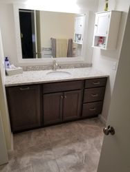 Full Bathroom Remodel, Tub Changed To Shower With Seat #5