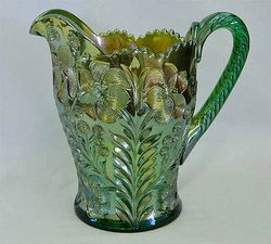 Tiger Lily water pitcher in green