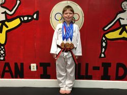 04/26/2015 Presidential Cup TKD Championship  TJ Cox  1st Place Forms 1st Place Breaking 1st Place Weapons 3rd Place Sparring