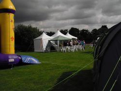 10m marquee in Eastwood park for Eastwood Baptist Church