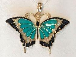 Enamel Butterfly in 14k