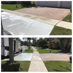 Driveway and Sidewalk pressure cleaning