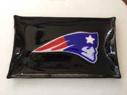 Hand painted patriots platter