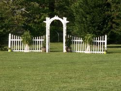 New Arbor, Fence and Ferns