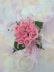 Pink Roses with Diamonties