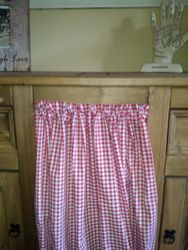 Red Gingham Curtain