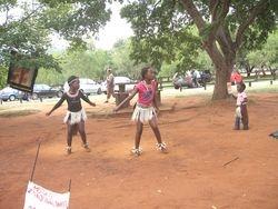 Zulu girls dancing