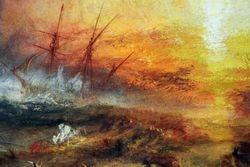 Turner, Slave Ship, detail, Boston
