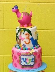 Dinosaur themed cake