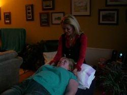Vicky treating Paula