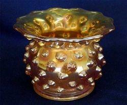 Hobnail spittoon, marigold